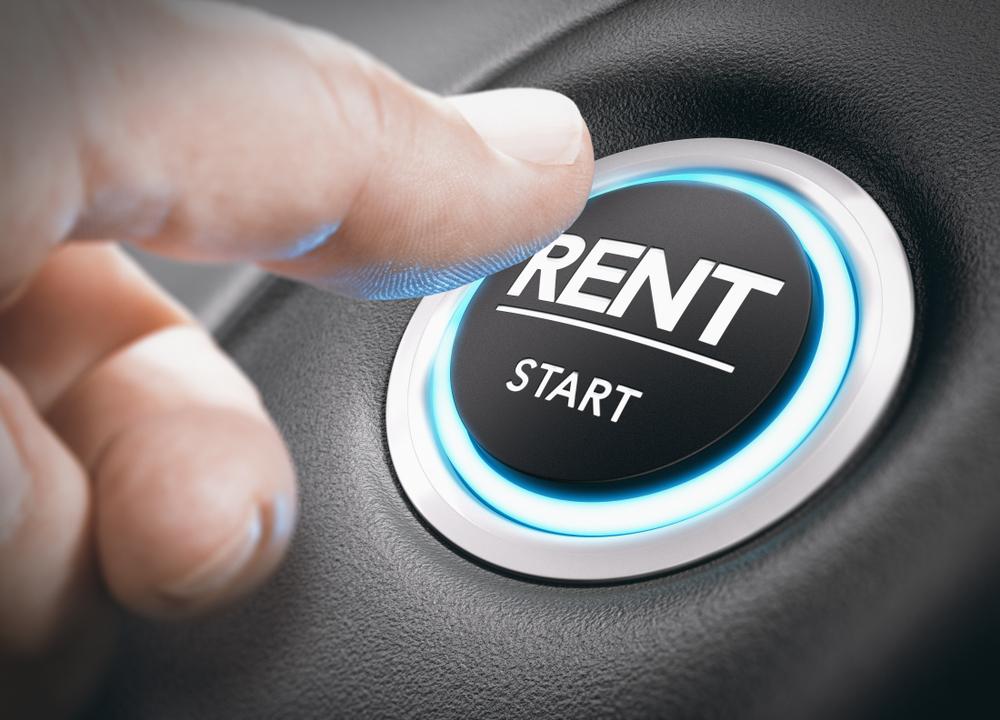 Man,Pushing,A,Start,Button,Rent.,Concept